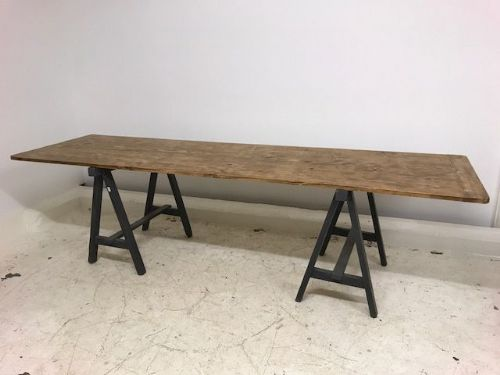 Large French Trestle Table - v4